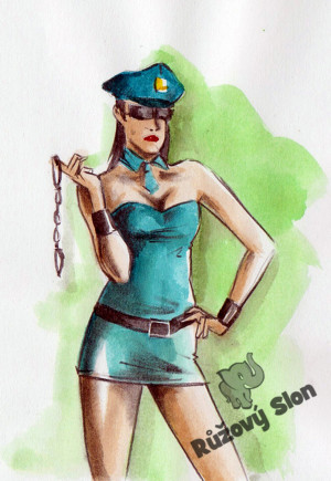 Kostým sexy policistka