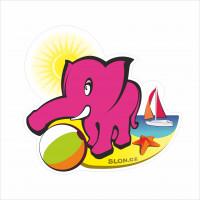 slon letní u vody