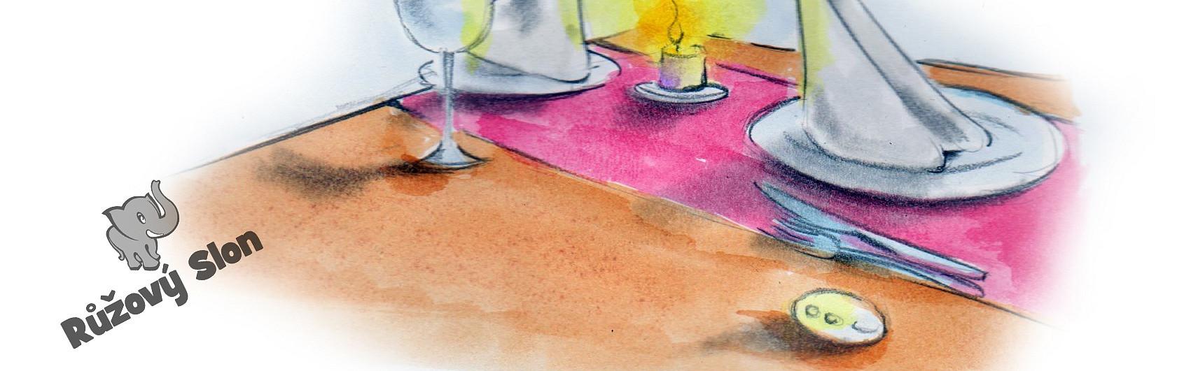 ovladač vibračního vajíčka na stole v restauraci