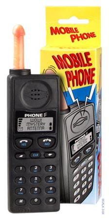 Žert. mobil s penis-anténkou