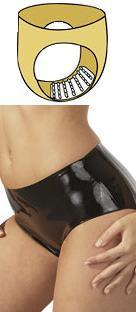 Latexové nohavičky s výstupkami