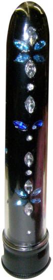 Vibrátor Diamond Dancer čierny 18 cm