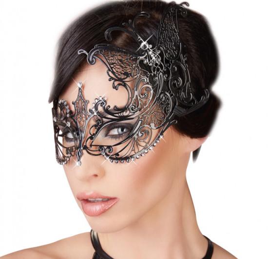 Kovová maska na oči s kamínky