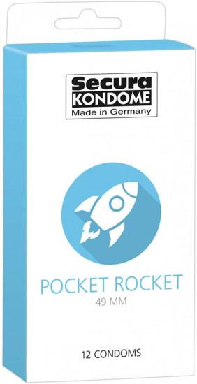 Secura Pocket Rocket 49 mm - malé kondómy (12 ks)