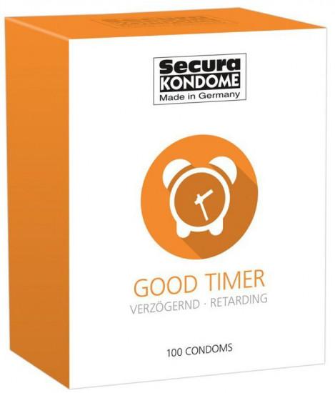 Secura Good Timer – Tlumivé kondomy (100 ks)