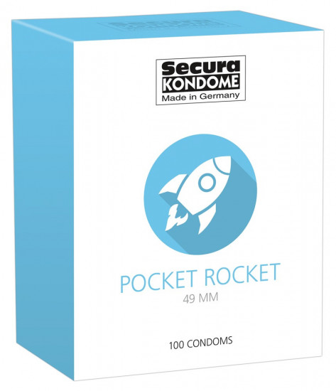 Secura Pocket Rocket 49 mm – malé kondomy (100 ks)