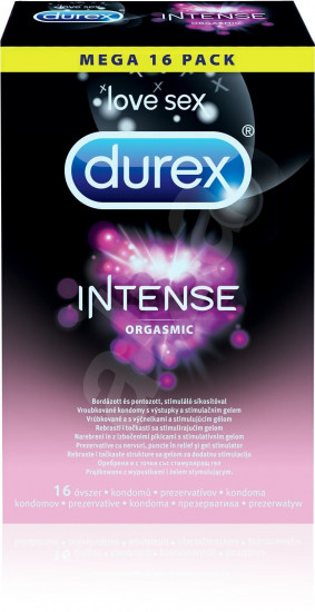 Durex Intense Orgasmic - vrúbkované kondómy