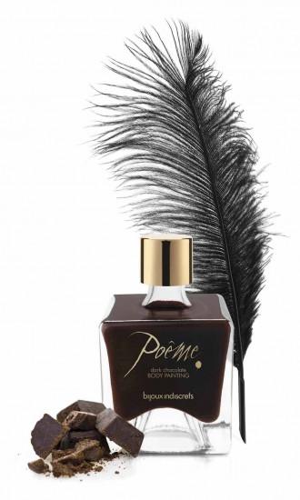 Bijoux Indiscrets Poême Dark Chocolate – malování na tělo (50 ml)