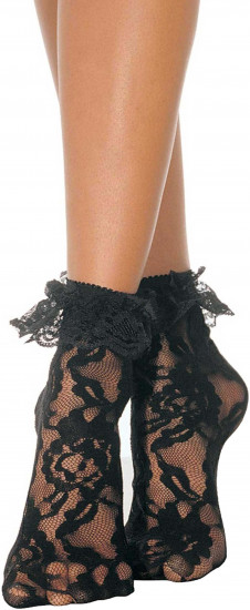 Krajkové ponožky Lace Ruffle
