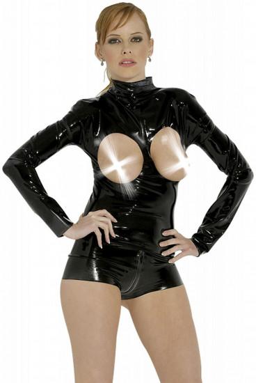 LateX body s otvory na prsa Exhibition