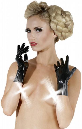 Latexové rukavice.