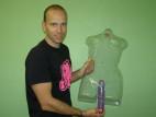 Vibrátor gélový fialový 24cm