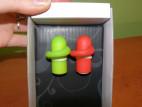Silikonové minivibrátorky na prst RedGreen