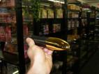 Vibrátor plast zlatý 20 cm