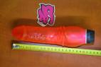 Vibrátor gélový Červený drak s vrúbkami 20 cm