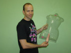 Vibrátor Loveclone s výstupkami 16 cm