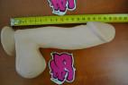 Dildo s prísavkou natural 19 cm