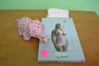 Košilka Růžový sen s černou mašlí + tanga S-M
