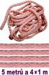 Bondážní lano  5m + 4x 1m