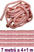 Bondážní lano  7m + 4x 1m