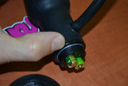Análny kolík nafukovacie s vibrácií a prísavkou