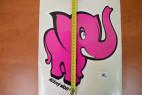 Samolepka Růžový slon