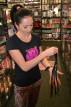 Kožený korbáč Fringes (40 cm)