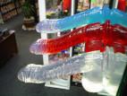 Dildo gelové přísavka červené 17*3 cm