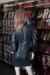 Latexové šaty s dlouhým rukávem