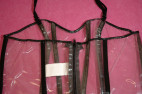 Priesvitné PVC šaty