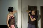 Simona a Košieľka Viktorie čierna s ružovou + tanga