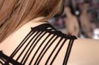 Síťovaný overal Wavy Stripes, černý