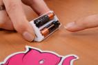 Joymatic Touch Vibe, dotykový vibrátor - batérie uložené v puzdre