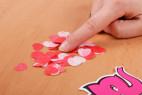 Mýdlové konfety Little Hearts – na stole