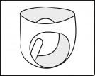 LateX pánské slipy s análním kolíkem, kresba