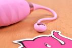 Bezdrátové vibrační vajíčko Pink Love, poutko na vajíčku