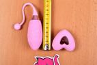 Bezdrátové vibrační vajíčko Pink Love, celková délka