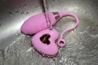 Bezdrátové vibrační vajíčko Pink Love, pod tekoucí vodou