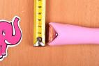 Silikonový vibrátor Pink Lover, průměr rukojeti
