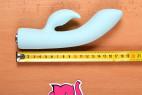 Vibrátor s výběžkem na klitoris Turquoise Diamond – celková délka
