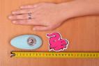 Masážní vibrátor Turquoise Diamond – s metrem a rukou