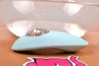 Masážní vibrátor Turquoise Diamond – před koupelí