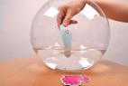Masážní vibrátor Turquoise Diamond – test vodotěsnosti
