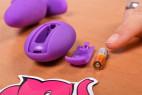 Vibrační anální kolík Orchid Zen s ovladačem, starší verze, baterie
