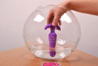Vibrační anální kolík Orchid Zen s ovladačem, starší verze, voděodolnost