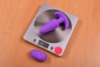Vibrační anální kolík Orchid Zen s ovladačem, starší verze, na váze