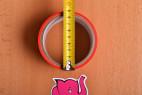 Bondážna páska Rouge - meriame priemer pásky