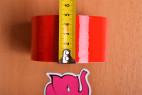 Bondážna páska Rouge - meriame šírku pásky