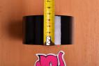 Bondážna páska Noir - meriame šírku pásky