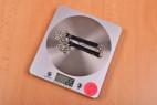 Kožený obojok s retiazkou Shameless - váženie, stolný váha ukazuje 22 g